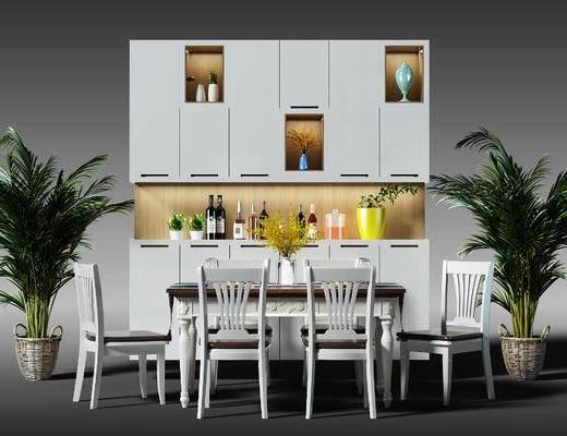 酒柜, 鞋柜, 装饰柜, 盆景, 植物, 桌椅组合, 桌椅, 餐桌, 餐桌椅, 椅子, 美式, 简欧, 盆栽, 置物柜, 陈设品