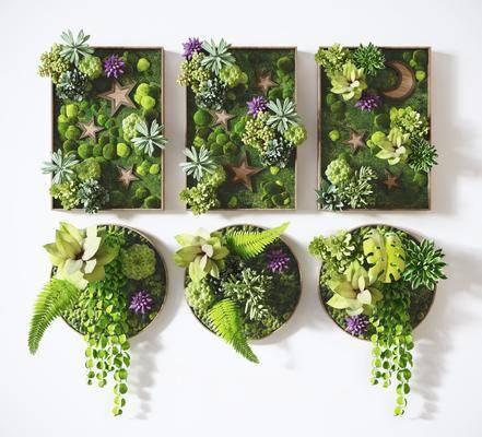 绿植墙, 墙饰, 背景墙