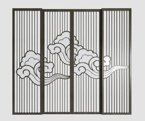 金属屏风, 折叠屏风, 镂空屏风, 雕花屏风