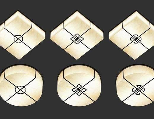 吸顶灯组合, 新中式