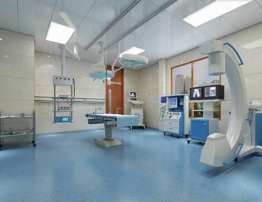 现代, 医院, 医疗设备, 手术台, 医疗器械