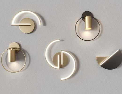 现代壁灯, 壁灯, 金属壁灯, 轻奢壁灯