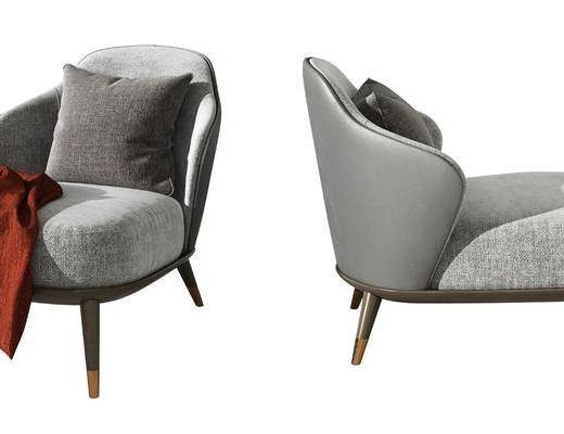 现代单人休闲沙发椅