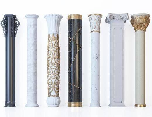 现代风格装饰柱, 罗马柱