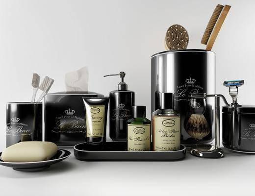 卫浴洗漱, 洗漱用品, 洗漱组合, 摆件组合, 现代