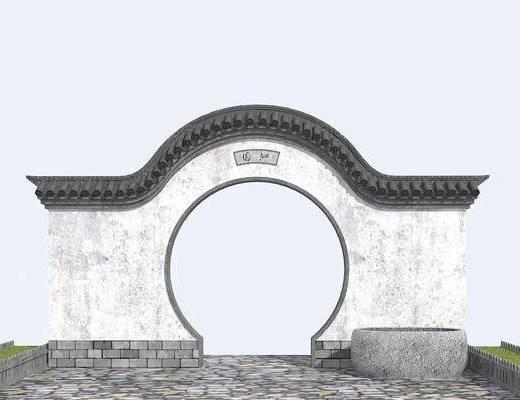 中式拱门, 门拱组合