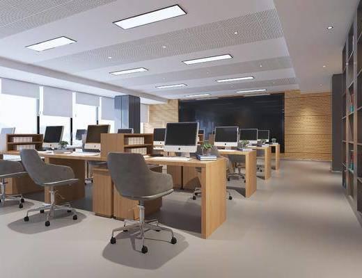 现代办公室, 办公桌, 单椅