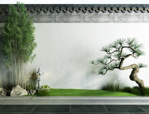 中式, 景观, 绿植