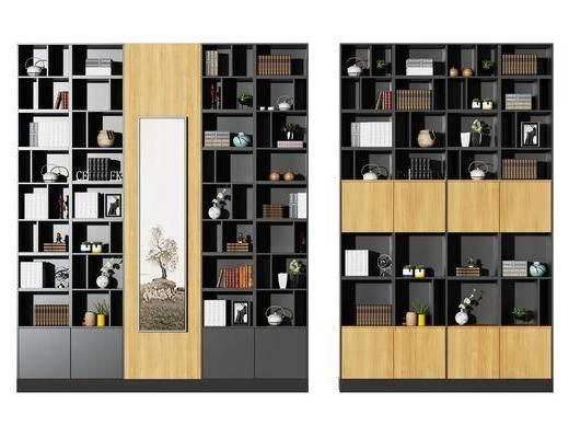 书柜, 装饰柜, 北欧