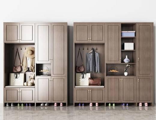 衣服, 鞋子, 盒子, 瓷器, 植物, 帽子, 鞋柜, 柜架组合