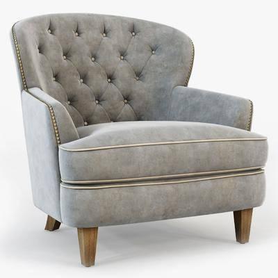 单人沙发, 布艺沙发, 现代沙发, 布艺单人沙发, 纯色沙发, 现代