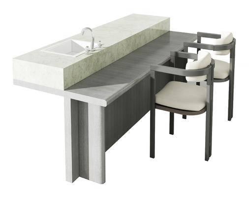 现代, 餐桌椅, 组合