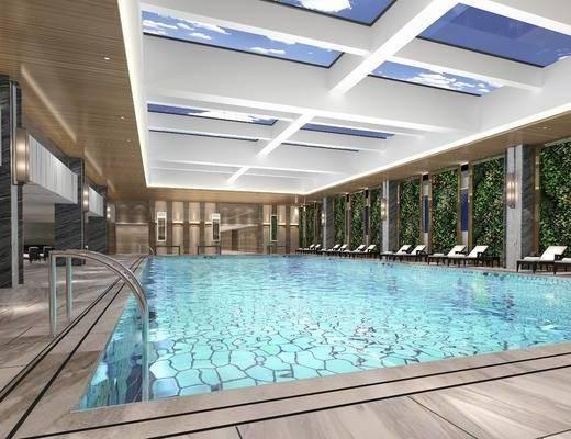 现代, 酒店, 游泳池