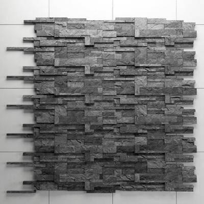背景墙, 石头, 凹凸不平, 现代