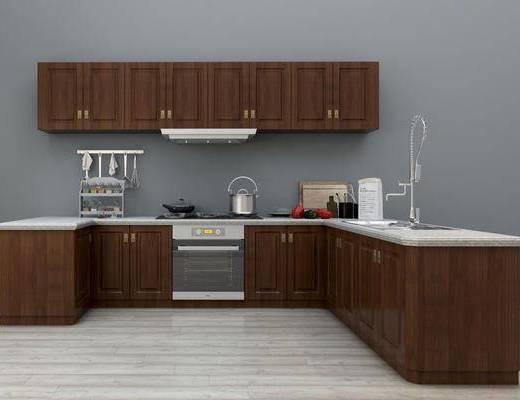 厨柜, 厨具, 厨房摆件, 厨房挂件, 抽油烟机, 消毒柜, 装饰柜, 现代