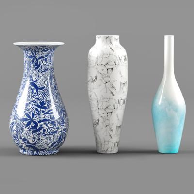 中式, 彩绘, 花瓶, 瓷器, 摆设, 器皿