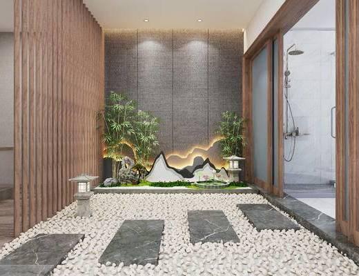 竹子, 景观园林, 植物, 户外灯