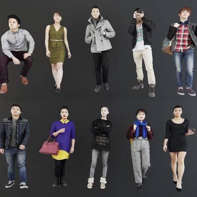 现代休闲人物模型, 现代, 人物