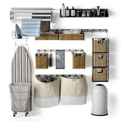 生活用品, 熨斗, 熨衣板, 收纳篮, 收纳架, 收纳袋, 现代, 北欧