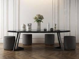北欧轻奢大理石桌椅