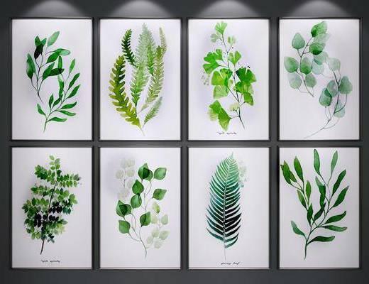 挂画, 绿植装饰画, 花草装饰画, 装饰画