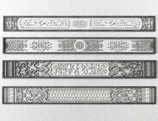 中式建筑雕花花格