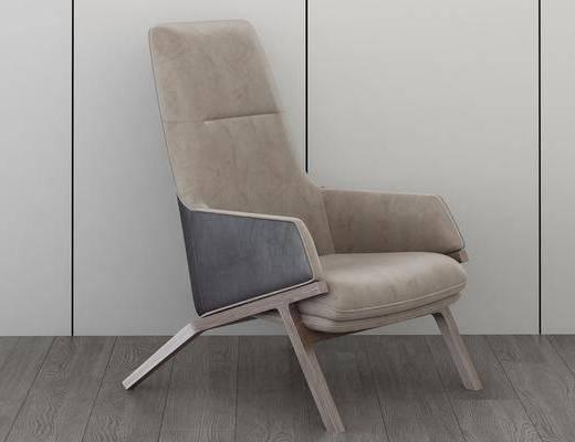 沙发扶手椅, 休闲沙发椅, 单人椅, 现代
