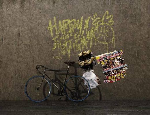 自行车, 非机动车, 工业风