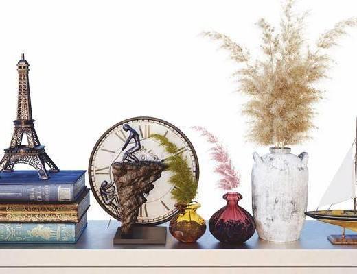 花瓶, 摆件组合, 陈设品组合