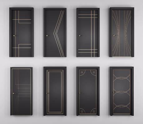 平开门, 烤漆房门, 现代
