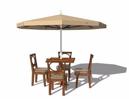 户外椅, 桌椅组合, 遮阳伞