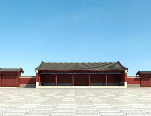 古建, 中式古建, 户外建筑