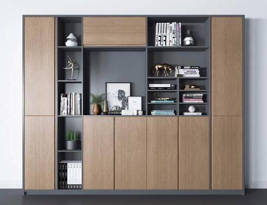 书柜, 置物柜, 书籍, 柜架组合