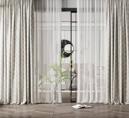 现代卧室窗帘