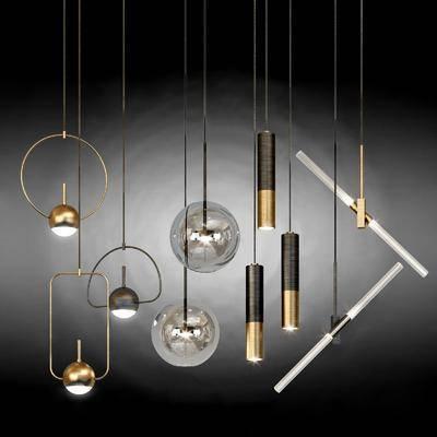 吊燈, 燈飾, 燈具組合