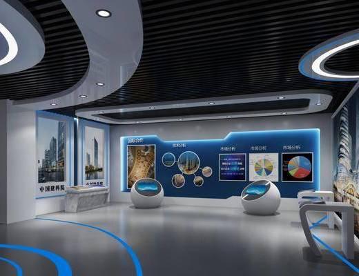 企业展厅, 展览展厅, 现代