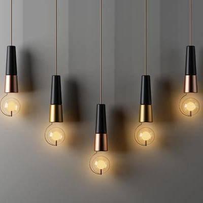 金属吊灯, 吊灯, 现代