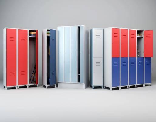现代, 更衣柜, 柜子, 储物柜, 网球拍