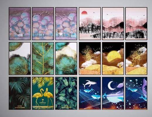 挂画, 装饰画, 风景画, 山水画