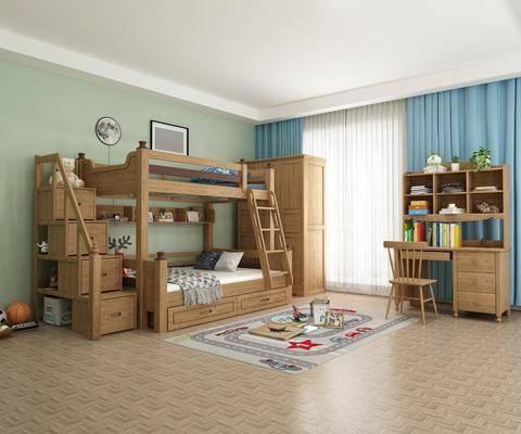 美式, 兒童床, 組合