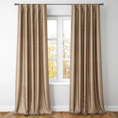 窗帘, 窗户, 纯色窗帘, 现代窗帘, 北欧窗帘, 现代