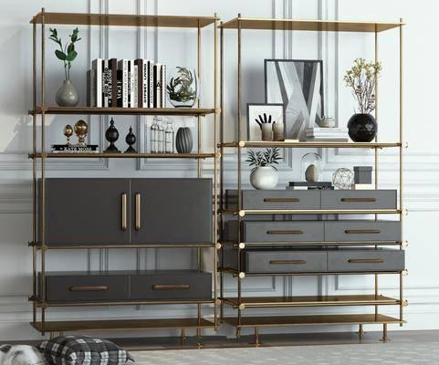 摆件组合, 装饰柜, 柜架组合