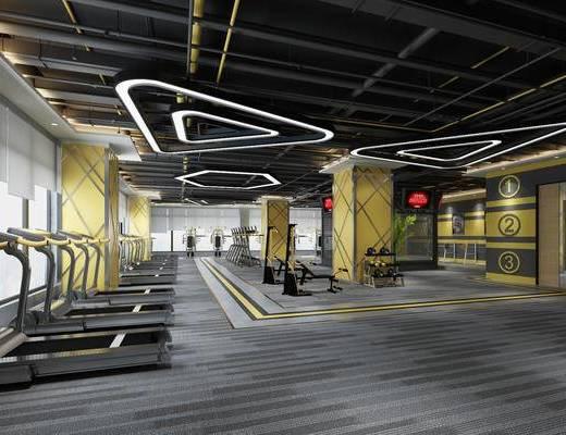 健身房, 健身室, 排不及, 吊灯
