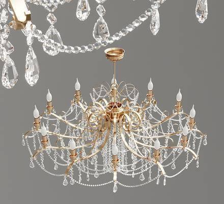 现代水晶蜡烛吊灯