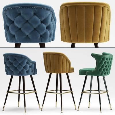 北欧, 吧椅, 高脚凳, 现代, 吧凳