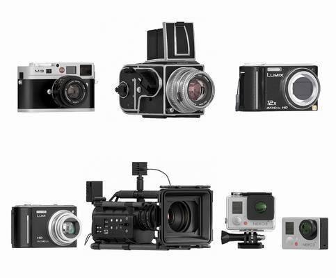 老式古董相机, 相机, 摄影机, 现代相机