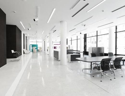 办公室, 现代, 现代办公室, 办公桌, 办公椅, 椅子, 极简办公室