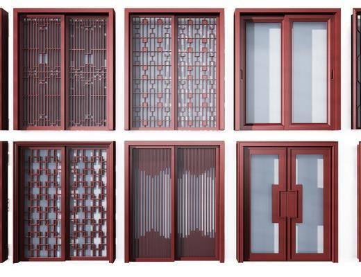 推拉门, 厨房门, 门组合, 新中式