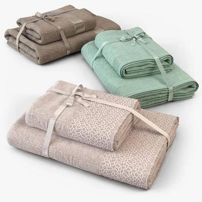 毛巾, 纯色毛巾, 毛巾组合, 现代