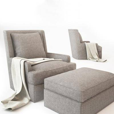 现代休闲沙发沙发凳脚踏组合, 现代, 沙发, 休闲沙发, 布艺沙发, 脚踏, 脚凳